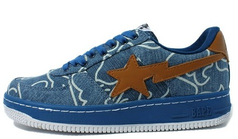 Denim Bapesta Sneakers