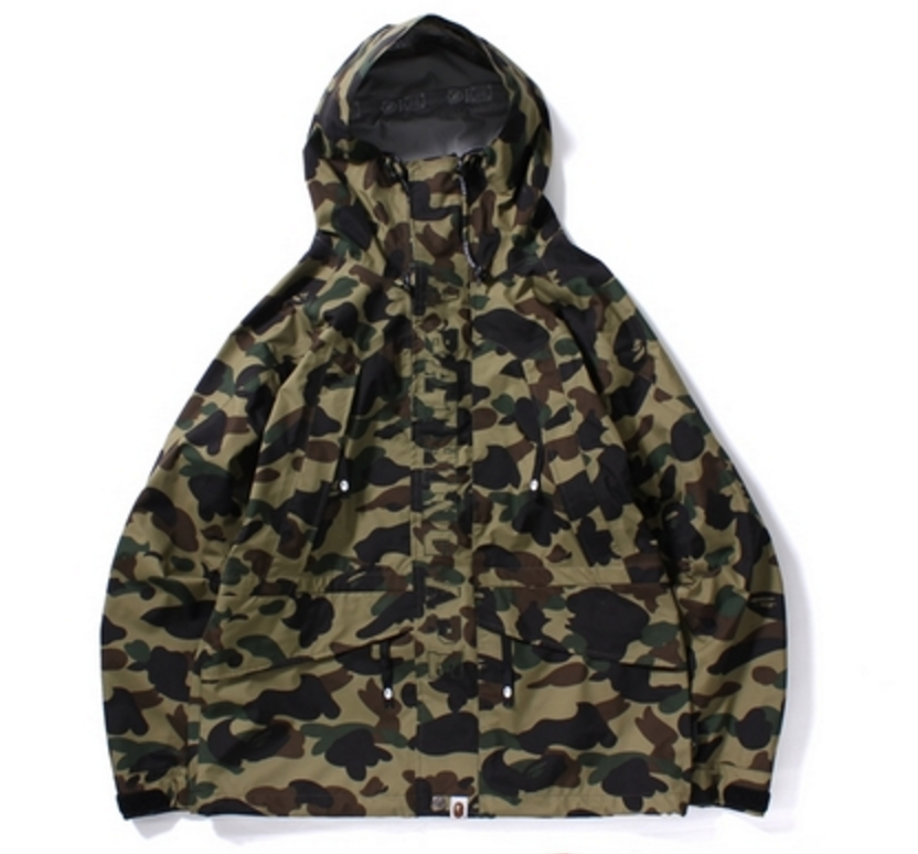 Bape jacket green