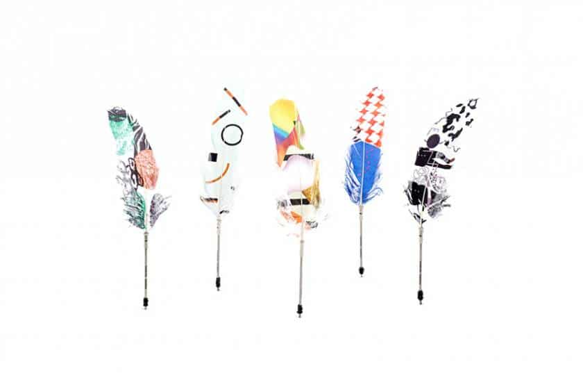 Printed Feather Pens